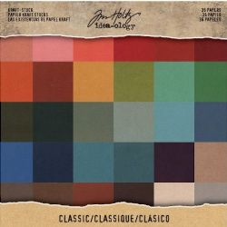 "TH93585 Tim Holtz® Idea-ology™ | Paperie Collage Mini Stash 8""x8""  Paper Pad- Classic Kraft"